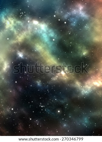 Unknown nebula, new galaxy, stars. Space stars wallpaper. Abstract photo realistic background. Simple website template. Soft blur color. Web design and mobile interface, banner, wallpaper, poster.  - stock photo