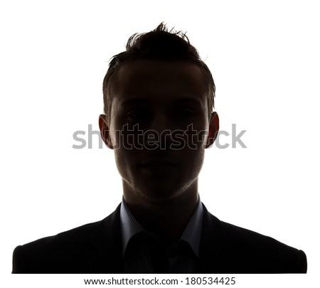 Unknown person silhouette - stock photo
