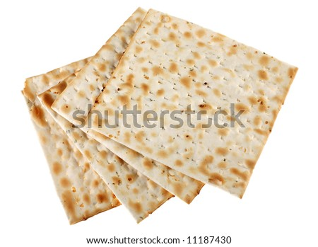 Unleavened bread traditional isolated on white background - stock photo