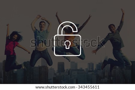 Unlock Freedom Free Liberate Unlocked Concept - stock photo