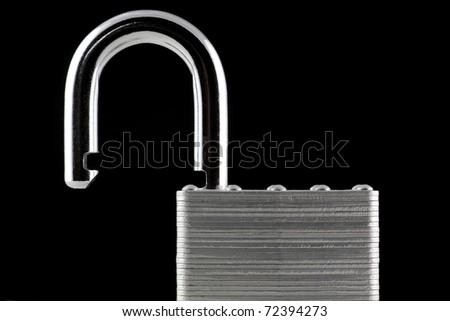 unlocked padlock - stock photo