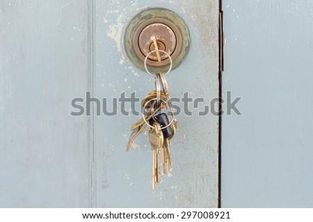 unlocked the door  - stock photo