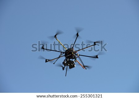 unmanned aerial vehicle - stock photo