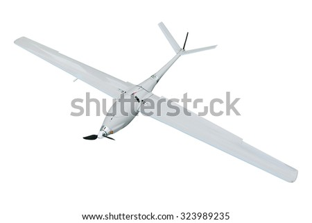 Unmanned aerial vehicle, isolated on white background - stock photo