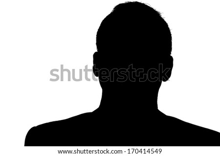 Unnamed person silhouette - stock photo