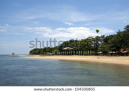Unoccupied beach at Sanur in Bali, Indonesia