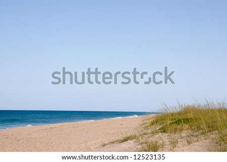 Unoccupied beach image for background - stock photo