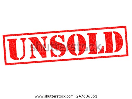 UNSOLD red Rubber Stamp over a white background. - stock photo