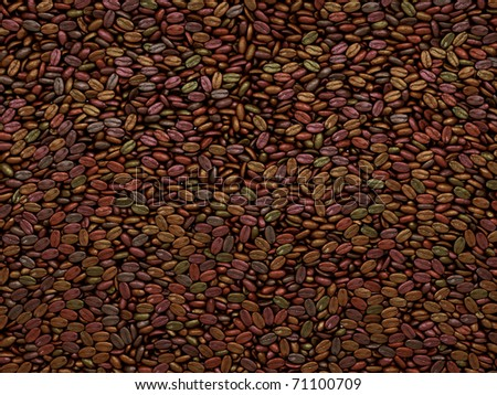 Unsorted Coffee beans texture or background. Large resolution