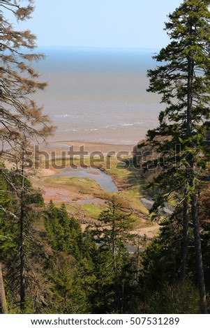 Unspoiled Long Beach on the Fundy Trail Parkway in New Brunswick, Canada