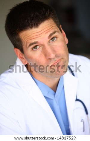 Unsympathetic Doctor - stock photo