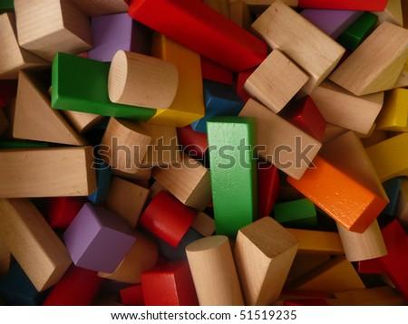 untidy variety blocks - stock photo