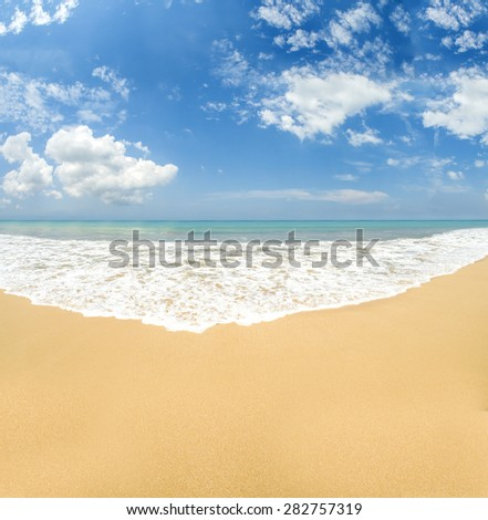 Untouched amazing tropical beach - stock photo