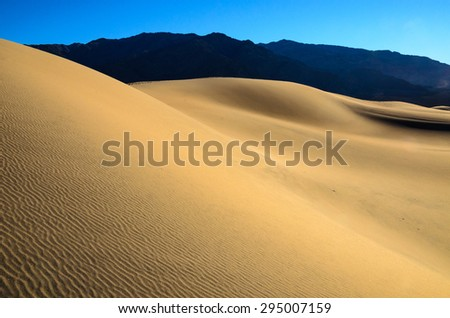 Untouched Dunes at Death Valley - stock photo