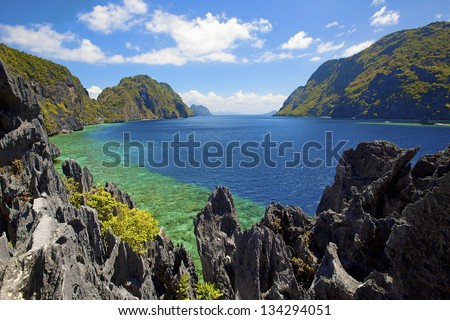 Untouched nature in El Nido, Palawan, Philippines - stock photo