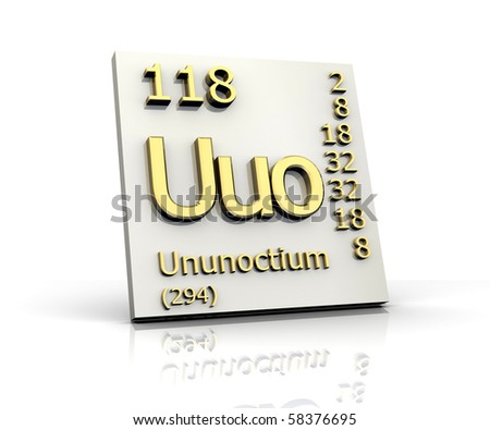 Ununoctium periodic table elements 3 d made stock illustration ununoctium from periodic table of elements 3d made urtaz Gallery