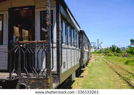 Unused old train - stock photo