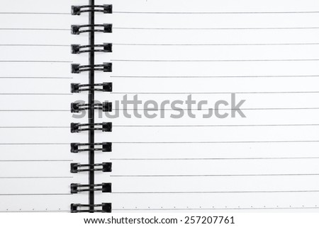 unused page on notebook, pattern and new style - stock photo