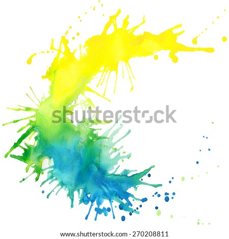 unusual abstract hand drawn watercolor blot background