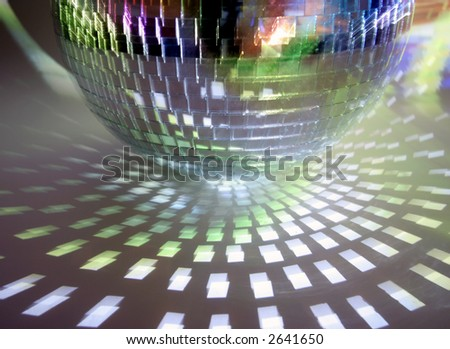 unusual abstract image of a disco mirrorball - stock photo