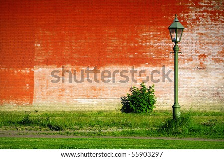 unusual light on the unusual background - stock photo