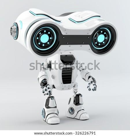 Unusual look-see robot big blue eyes / Look-see robot  - stock photo