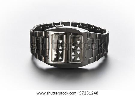 Unusual modern watch - stock photo