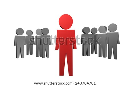 Unusual or outstanding person in 3D - stock photo