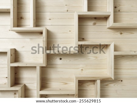 unusual shelves - stock photo
