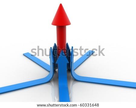 Up Arrow specifying top - stock photo