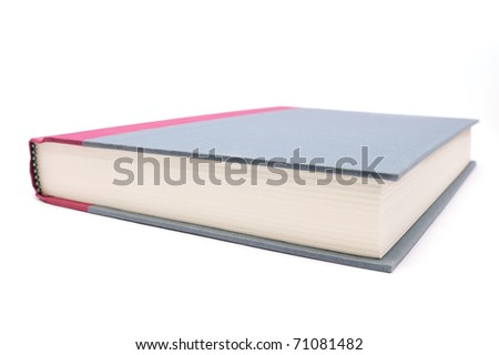 Up close shot of a hardcover book - stock photo