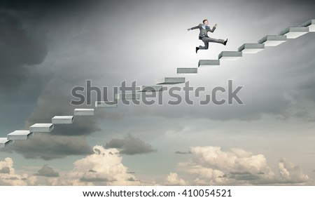 Up the career ladder - stock photo
