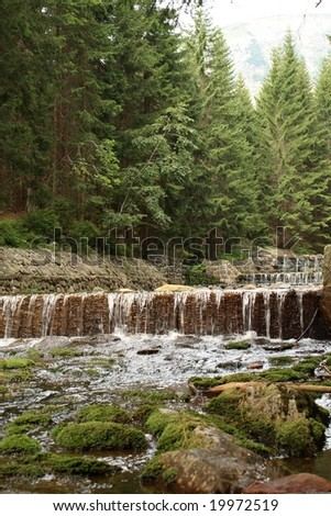Upa River in Krkonose Mountains - stock photo