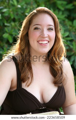 Upbeat Prom Girl - stock photo