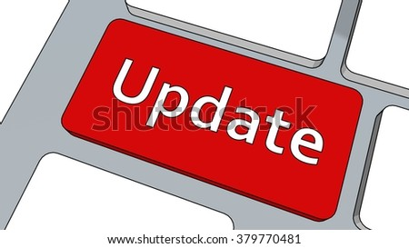 Update button on keyboard - stock photo