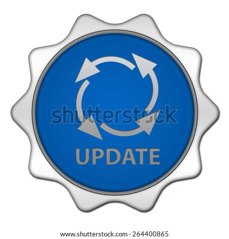 Update circular icon on white background