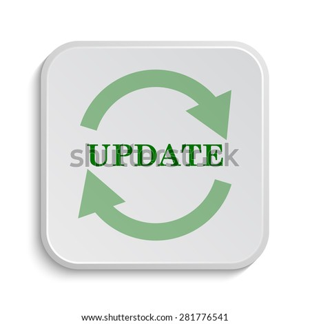 Update icon. Internet button on white background.