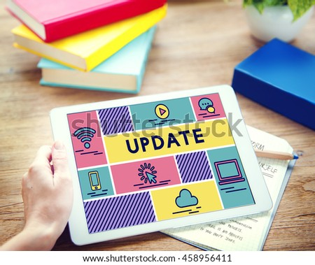 Update Newest Content Data Information Concept - stock photo