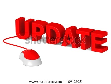 Update with Mouse - stock photo