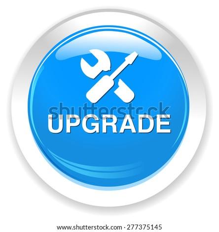 Upgrade  button - stock photo