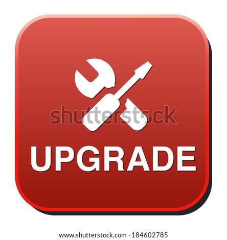 Upgrade now button - stock photo