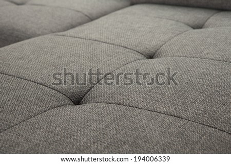 upholstered furniture - ement quilted - stock photo