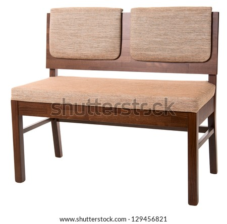 upholstered furniture isolated on white