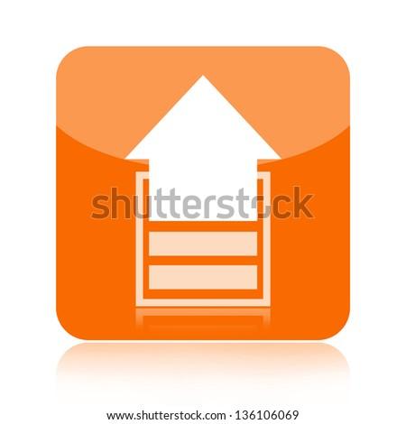 Upload icon - stock photo