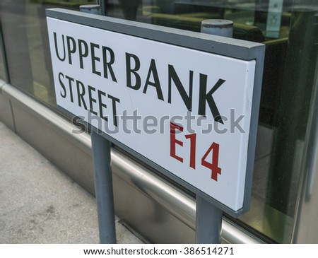 Upper Bank Street Canary Wharf - LONDON/ENGLAND  FEBRUARY 23, 2016