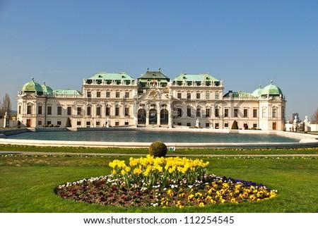 Upper Belvedere castle, Vienna - stock photo