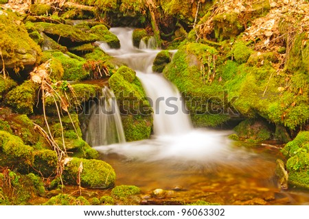 Upper Chasteen Creek in the Smoky Mountains - stock photo