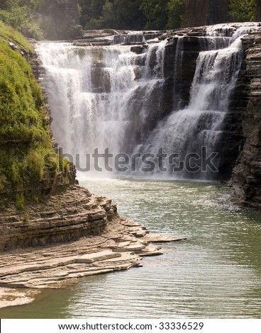 Upper Falls waterfall - stock photo