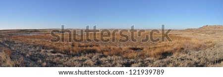 Upper Goose Lake in Muleshoe National Wildlife Refuge, Texas - stock photo