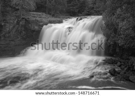 Upper Gooseberry Falls, Gooseberry State Park Minnesota - stock photo